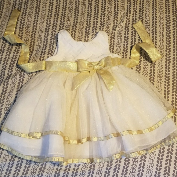 18 month Gold White Dress a8c4ce2818ab
